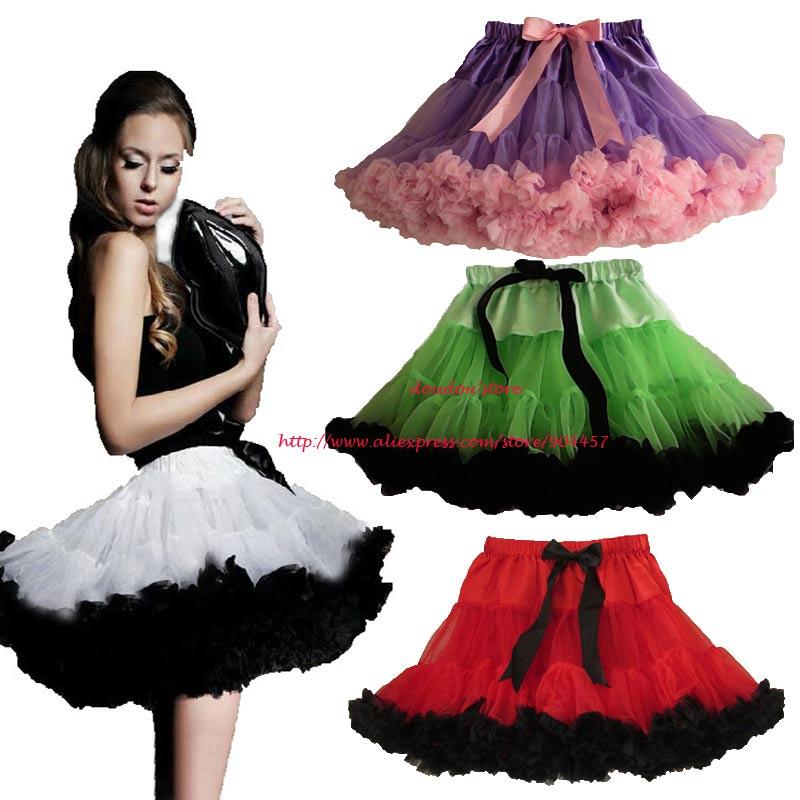 Adult Teen Girls Pettiskirt Womens Green With Black Party TuTu Skirts Ruffle S M L Wmens Tutu Skirt