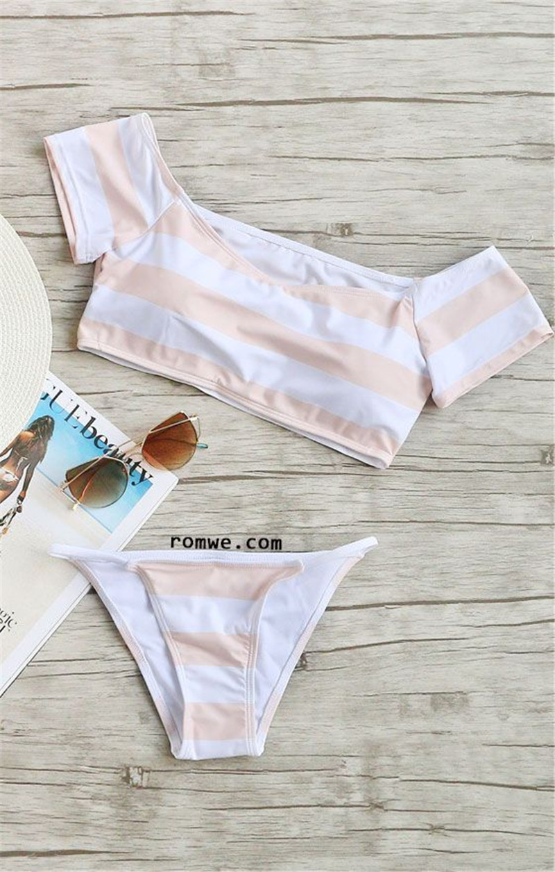Bikini New Doubledeck flouncing Swimsuit plus size bathing suit sexy women High waist swiming suits Off Shoulder Swimwear Y109