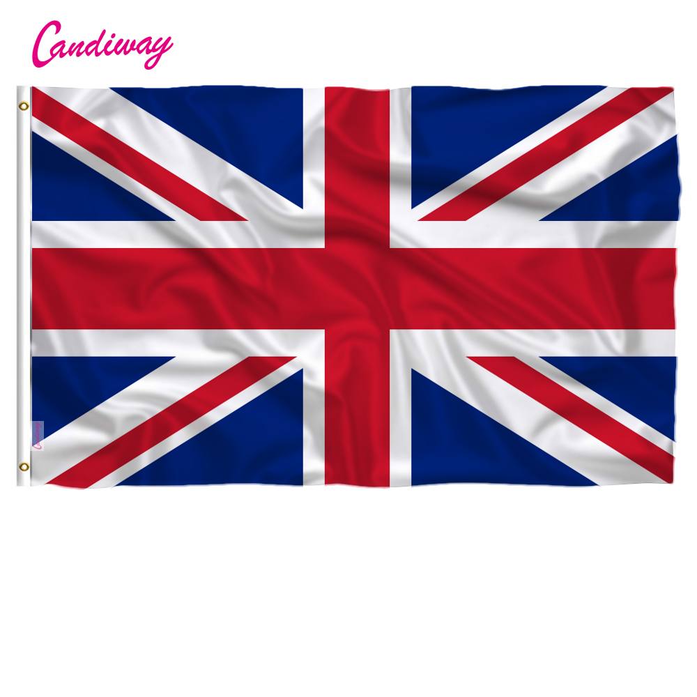 3X2 Ft Personalised Orange Union Jack Flag Design Banner Flag /& 4 Brass Eyelets