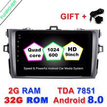 Funrover 2 din Android 8 0 Car DVD Player 8 For Toyota Corolla 2007 2008 2009