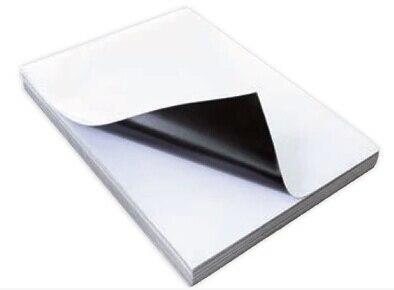 Imán imprimible hojas A4 imprimible por inyección de tinta imán Flexible Semi de papel fotográfico de alto brillo de nevera imán 40 hojas por paquete-in Papel de copia from Suministros de oficina y escuela    1