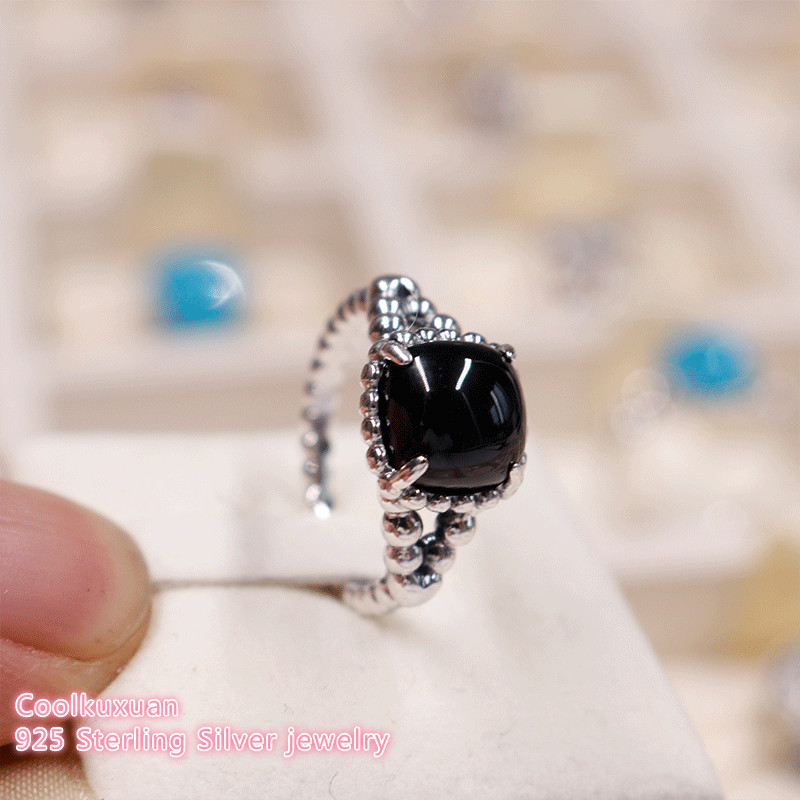 34ef399a6 2018 Summer Authentic 100% 925 Sterling Silver Vibrant Spirit Ring, Black  Crystal Ring For Women Jewelry Rings-in Rings from Jewelry & Accessories on  ...