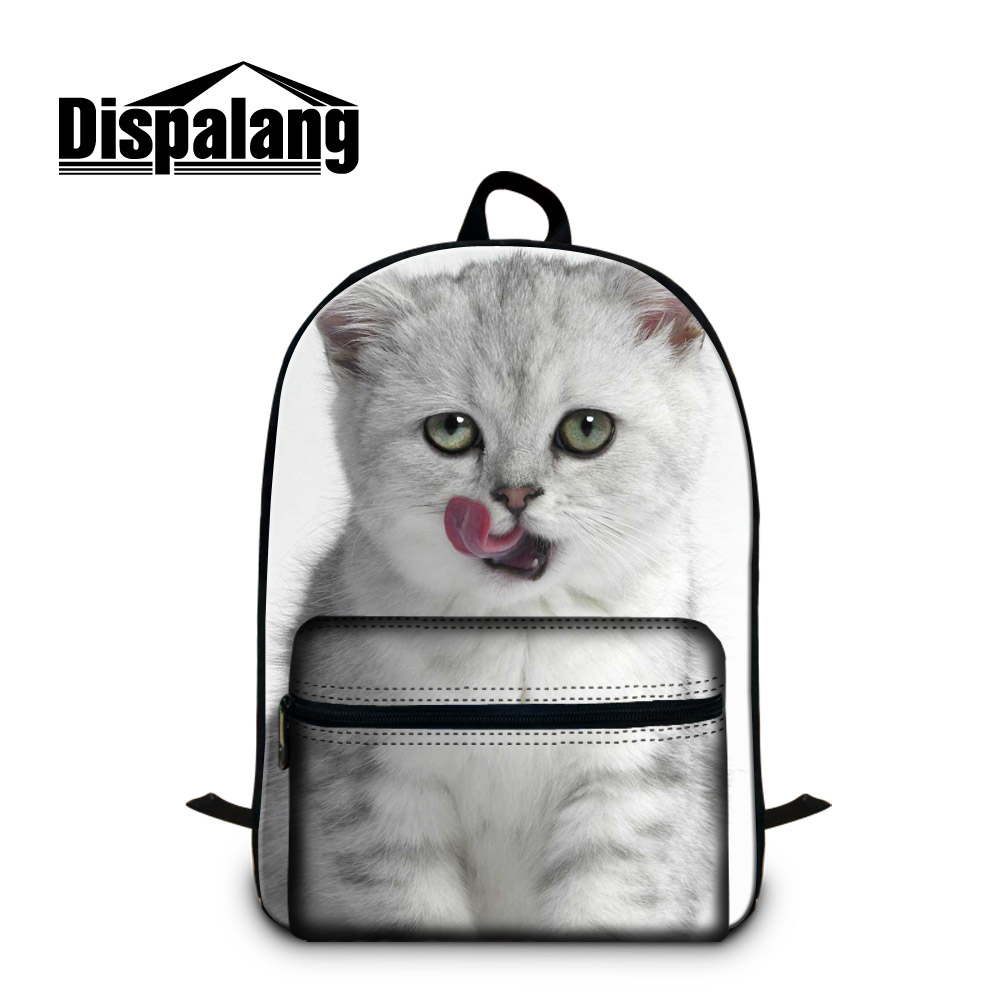 Dispalang custom  animal backpack boys  girls personalized school bags cut pet cat cotton canvas bag for children teens bookbags  funny 3d animal backpack cute puppy pet school backpack boys girls school bags children bookbag kids daily backpack for teens