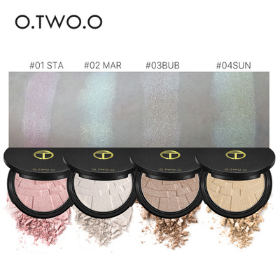 By DHL 30Pcs/Lot 4 Colors Baked Highlighter Powder Glow Kit Powder Highlighter Maquillage Imagic Illuminator Brightening Face