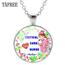 TAFREE Brand Critical Care Nurse Pendants Necklaces Silver Color Statement Chains Art Photo Nurse Doctor Best Gifts Jewelry NR07(China)