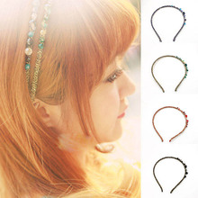 Fashion Crystal Rhinestone Hair Bands Women Korean Headband Girls Accessories Head Hoop Simple Colorful Elegant
