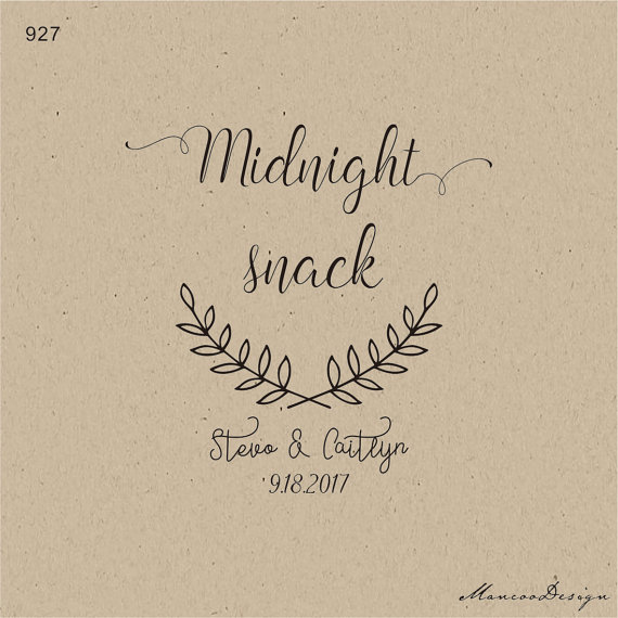 customized midnight snack bag stamp personalized logo custom rubber