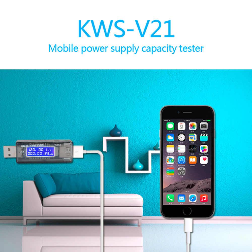 USB измерительный вольтметр амперметра тестер мощности питания измеритель напряжения тока USB зарядки для мобильных устройств Зарядное устройство KWS-V21