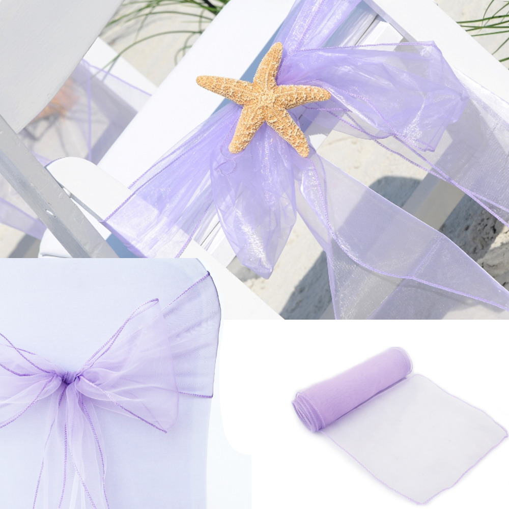 200pcs 22*275cm New Colors Chair Cover Sashes Organza