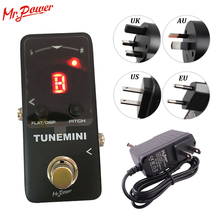 Protable Mini Chromatic Tuner Guitar Effect Pedal LED Display True Bypass Tuning for Guitar Bass Ukulele Parts & Accessories nux pt 6 chromatic pedal tuner with metal casing true bypass guitar accessories music instrument