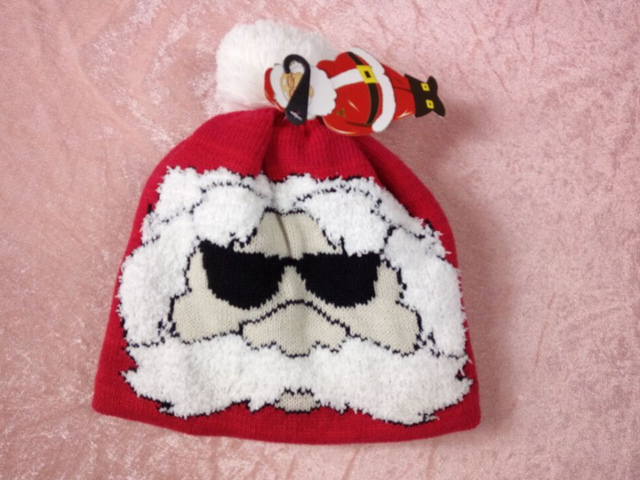 2016 New Men Women Christmas Gift Knitted Hat Beanie Santa Claus Hat Fashion Adult Child Parent-child Winter Hat Pom Pom Hat