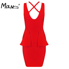Max Spri 2017 New Women Sexy Sleeveless Hollow Out Tank V-Neck  Mini Summer Dress Sexy Costumes