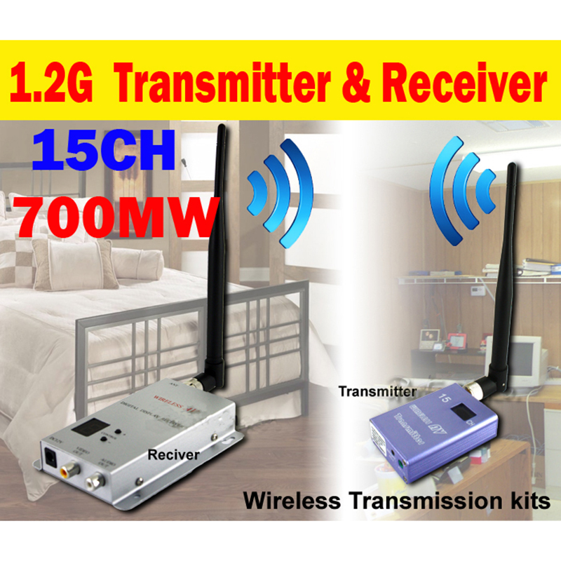 Wholesale 10pcs/lot New 15CH 700MW Wireless Transmitter AV Video Audio Receiver AV Sender Free Express Shipping billabong men s thirsty surf short sleeve t shirt