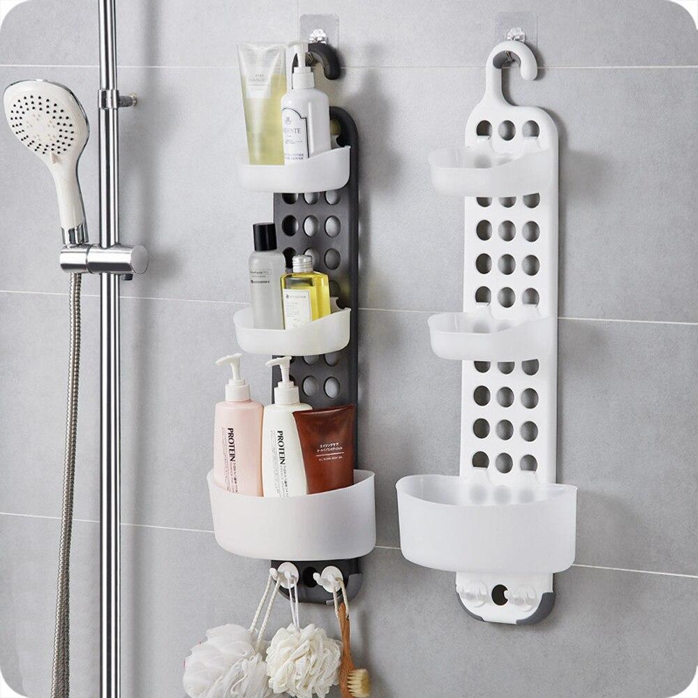 A1 1 estante de ducha sin perforaciones estante de lavado de pared de baño estante de almacenamiento de drenaje de ducha wx9031055