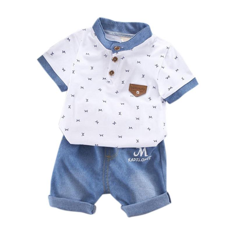 T-shirt dla chłopców Noworodek Baby Boy Ubrania Zestaw T-shirt z - Ubrania dziecięce - Zdjęcie 4