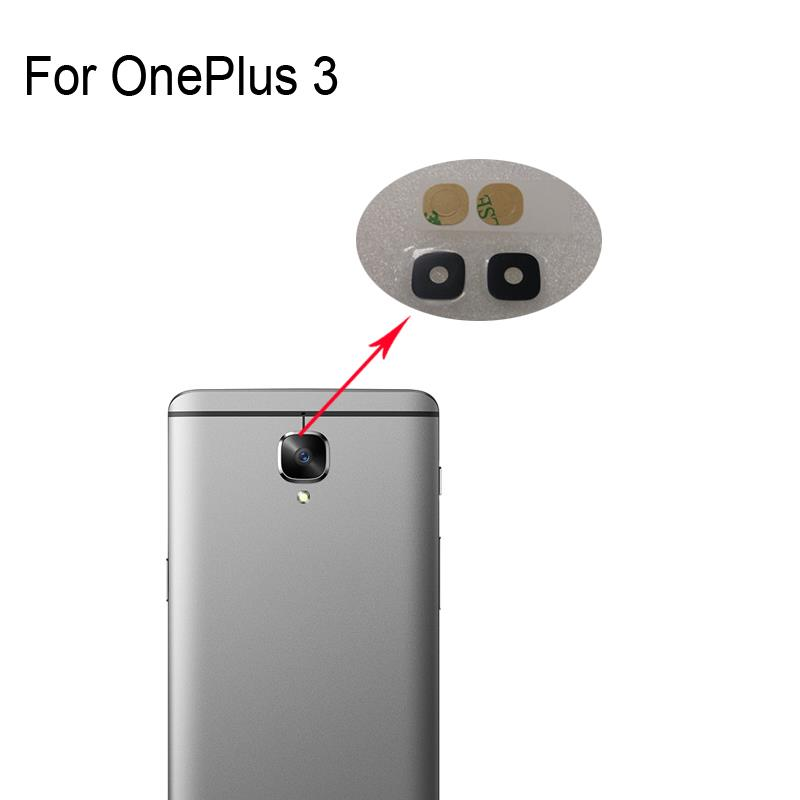 Original New For OnePlus 3 Rear Back Camera Glass Lens For OnePlus 3 Repair Spare Parts For OnePlus3