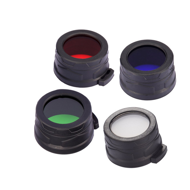 1pcs Nitecore Colour Filter(40mm)  NFB40 NFR40 NFG40 NFD40 Suitable For EA4 P25 Flashlight With Head Of 40mm