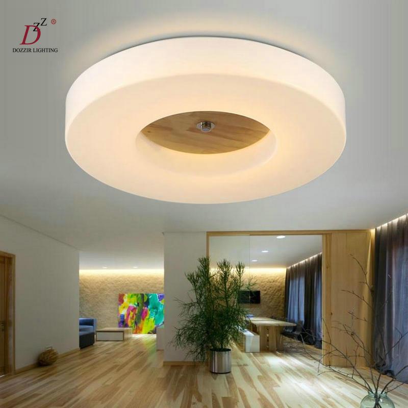 Modern LED wood flush mounted ceiling light bedroom lamp  AC 90-260V FREE SHIPPING free shipping notebook screen for lenovo thinkpad e450 laptop lcd screen display 1920 1080 edp 04x5882 b140htn01 4