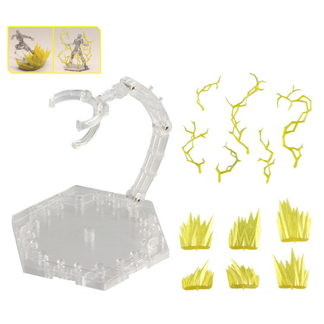 Lightning Aeration Cracking Explosion Model Scene Special Effects Decoration With Bracket For Gundam Model Action & Toy Figures