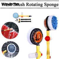 Vehemo Spray Switch Automatic Washing Brush Tool Automatic Rotate Brush Electric Car Wash Brush Portable Multifunction Brusher