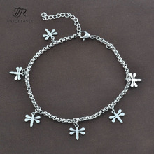 Stainless Steel Anklet Chain Foot Jewelry Ankle Bracelet with dragonfly pendant Anklet-9
