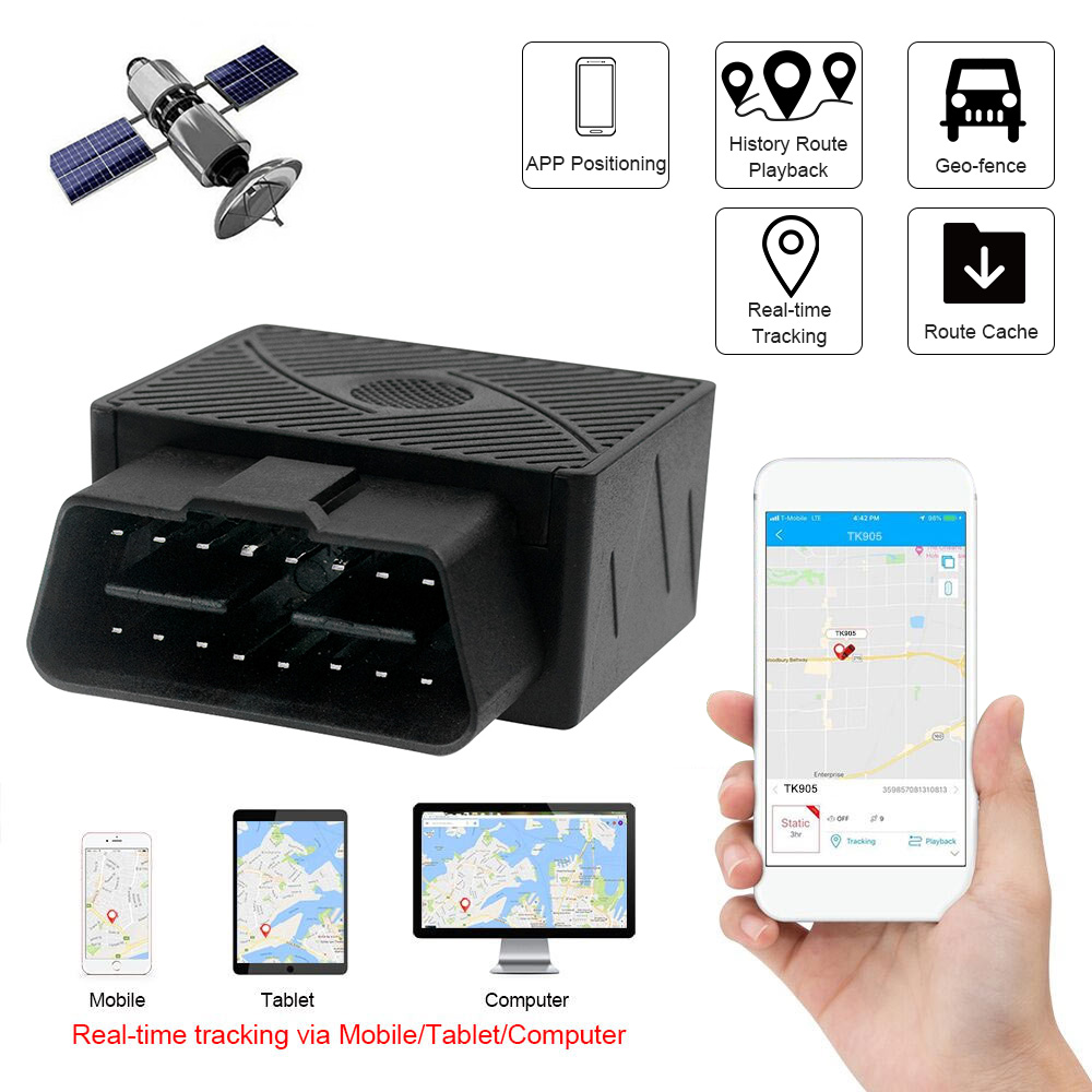 Gps-Tracker Gps Locator Vehicle Remote-Voice-Monitoring Automobile Car-Obd2 Satellite Internet