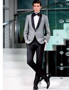 Image 5 - Kostüm Homme Terno Masculino Smoking Slim Fit Männer Anzüge Neueste Design Hochzeit Anzüge für Männer 3 stücke (Jacke + hose + Tie)