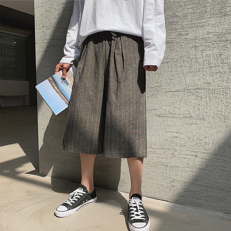 Linen Pants Loose Seven-Points Korean-Version Male Summer Casual The of Harajuku Tide