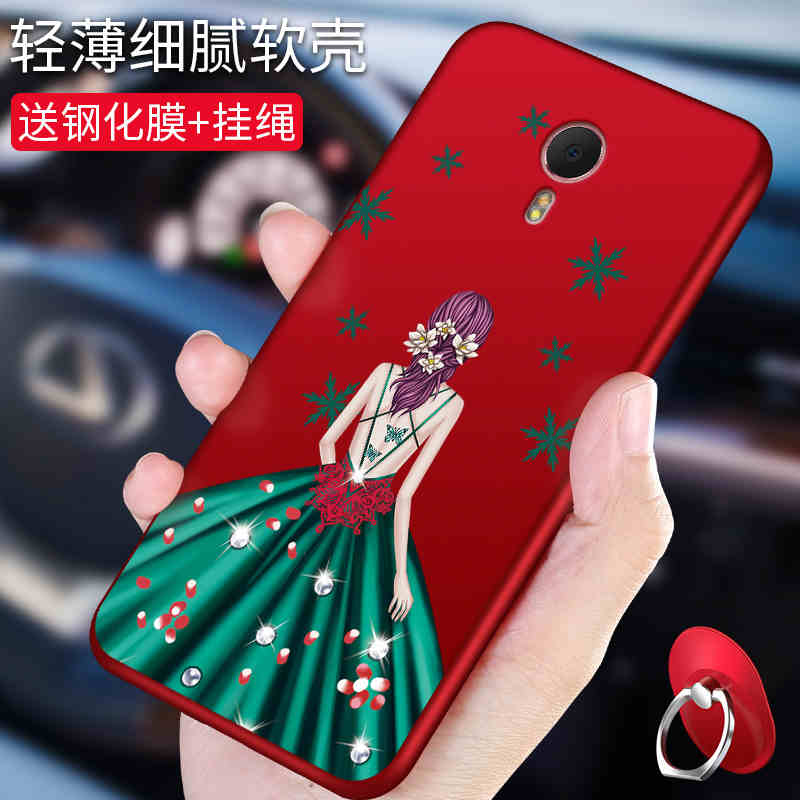bling rose wedding dress goddess with rope and stand holder soft silicon case For Meizu M3  M3S
