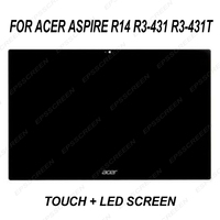 replace for Acer Aspire R14 R3 431 R3 431T Touch LED LCD Screen Digitizer Assembly display sense glass panel