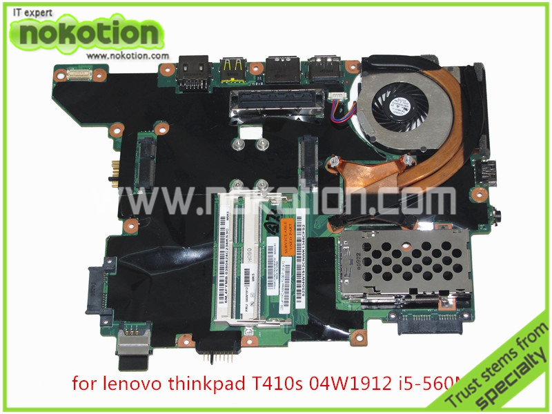FRU 04W1912 04W0321 For Lenovo thinkpad T410S laptop mainboard i5 560M cpu onboard DDR3 SLGZV QS57