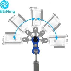 Image 2 - Светильник для дайвинга, зажим бабочка, 1 дюйм, шаровая Головка, крепление для GoPro 7 6 5 4, все виды спорта, зеркальная камера с 2/3 отверстиями