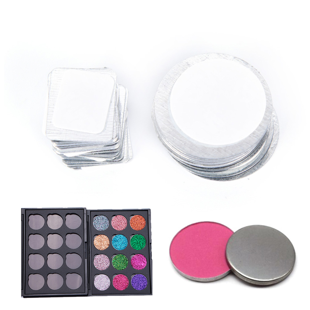 20X Round,Rectangle Metal Stickers For Eyeshadow To Hold Magnetic Eyeshadow Palette Tightly