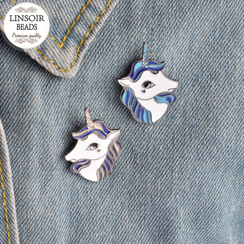 Badges Animal Beautiful Bird Unicorn Metal Brooch Button Pins Denim Jacket Pin Jewelry Decoration Badge For Clothes Lapel Pins Large Assortment Apparel Sewing & Fabric