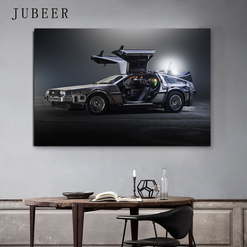 Delorean Car Time Machine Back To The Future Poster Silk Art Print Wall Pictures For Living Room Home Decor