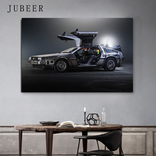 Delorean Car time machine Back to the future Poster Silk Art Print Wall Pictures For Living Room Home Decor цена