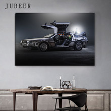 Delorean Car time machine Back to the future Poster Silk Art Print Wall Pictures For Living Room Home Decor(China)