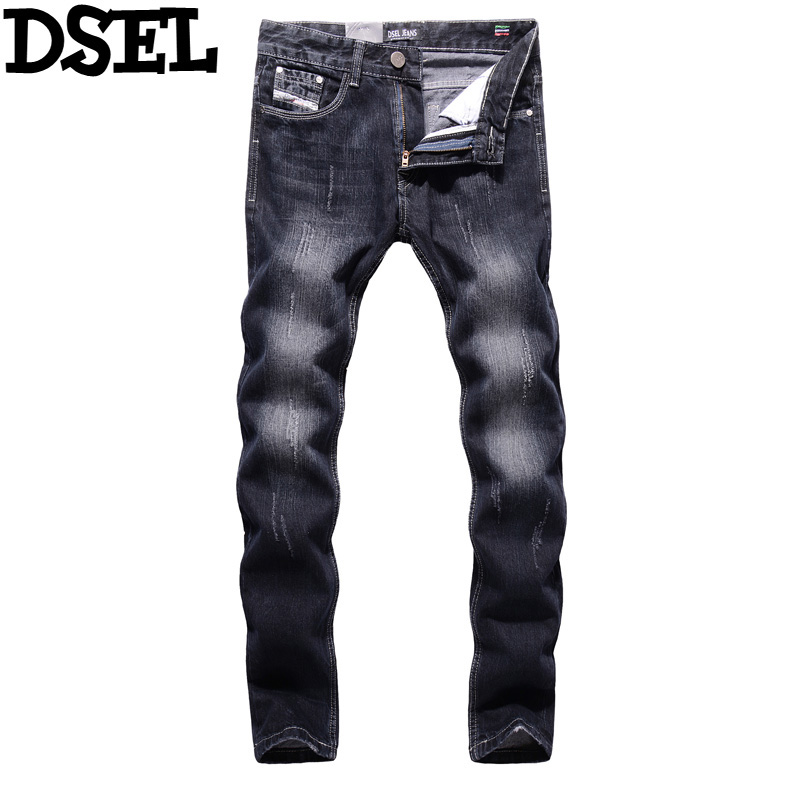 Newly Fashion Men Jeans Washed Pants High Quality Denim Jeans Dsel Brand Black Jeans Men Cotton