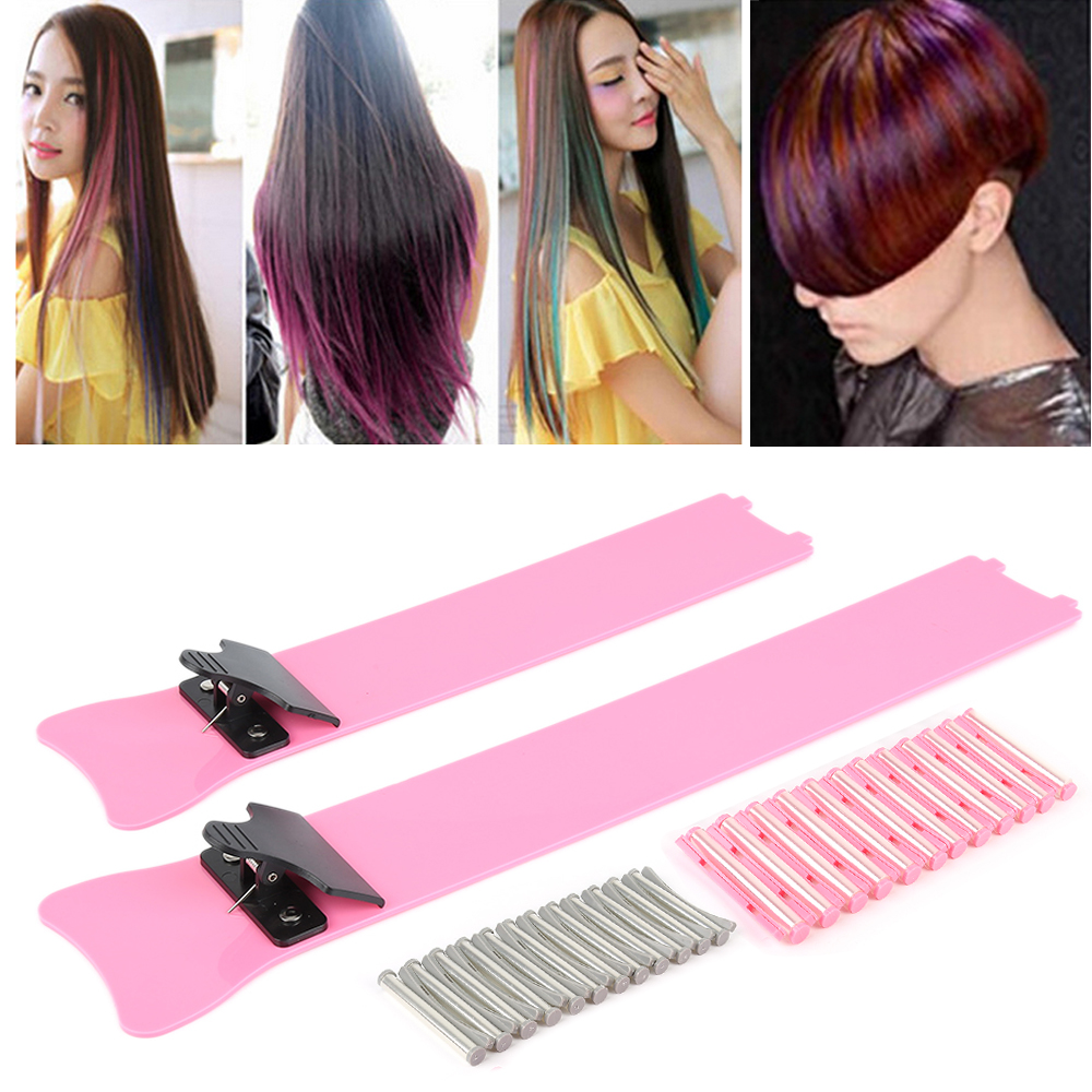 A box High quality Iron + Plastic Hair Salon Tools Durable Plate Color Dye Board Hair Color Plate DIY Dyeing Hair tool high quality hair color one time molding paste seven colors available grandma gray green japanese hair dye wax wp65