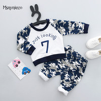 0 2 Year Baby Boys Clothes Sets 2018 Spring Fashion Casual Camouflage Top Pants Kids 2Pcs