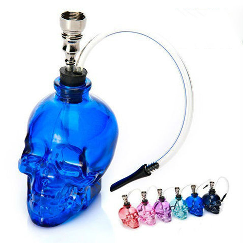 Mini skull Hookah Smoking Pipe Glass Pipe Water Pipe Small