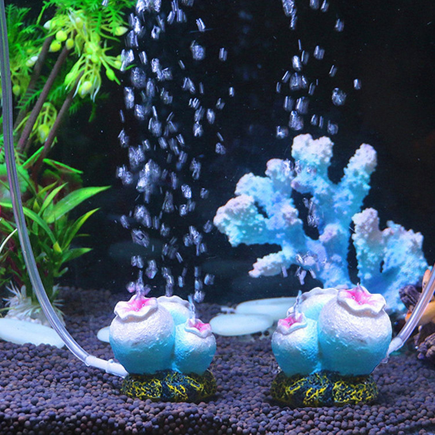 Behogar Coral Shape Fashion Portable Aquarium Tank Fish Ornament Oxygen Air Pump Bubbling Decoration for Fish Tank