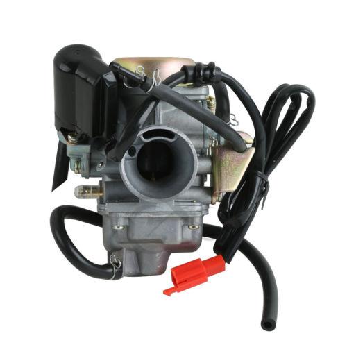 Moto Carburateur Carb Pour GY6 125 150cc Scooter VTT Kazuma Baja Kymco Taotao SunL Réservoir 24mm