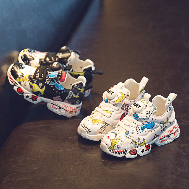 Spring New Kids Pu Leather Shoes Baby Girls Sport Sneakers Children Mesh Shoes Boys Fashion Casual Shoes Soft Brand Trainer 2019 1
