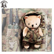 SINAIRSOFT Teddy Bear Tactic Doll, Cartoon Plush Stuffed Toy Tactical Vest CS Outdoor Clothing Hunting dress up
