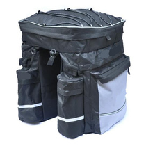 68L Bike Rear Rack Tail Seat Bag Waterproof Mountain Road Bicycle Cycling Luggage Trunk Container Pannier Rain Cover недорого