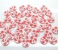 100 шт., пуговицы из смолы в форме красных цветов для детской одежды
