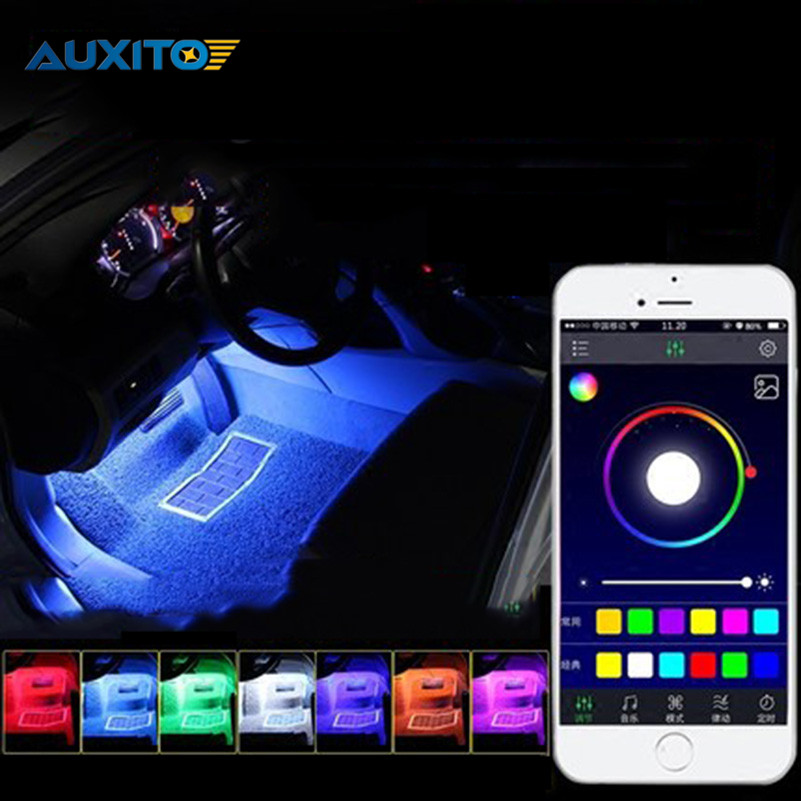 For Lexus rx300 is250 gs300 rx330 is200 rx350 gx470 lx470 lx570 ls400 Car RGB LED Atmosphere Decoration Light Phone APP Control for lexus es is gs gx ls ct lx rx rc nx new brand luxury soft pu leather car seat cover front