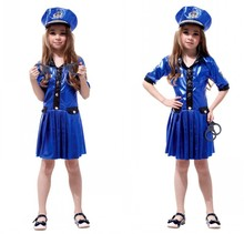 Girl police performance uniform COS Fantasy Comic Movie Carnival Party Purim Halloween