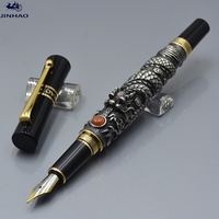 JINHAO 5000 3 Colors Exquisite Dragon Sculpture Barrel Fountain Pen School Office Stationery Luxury Brand Ink